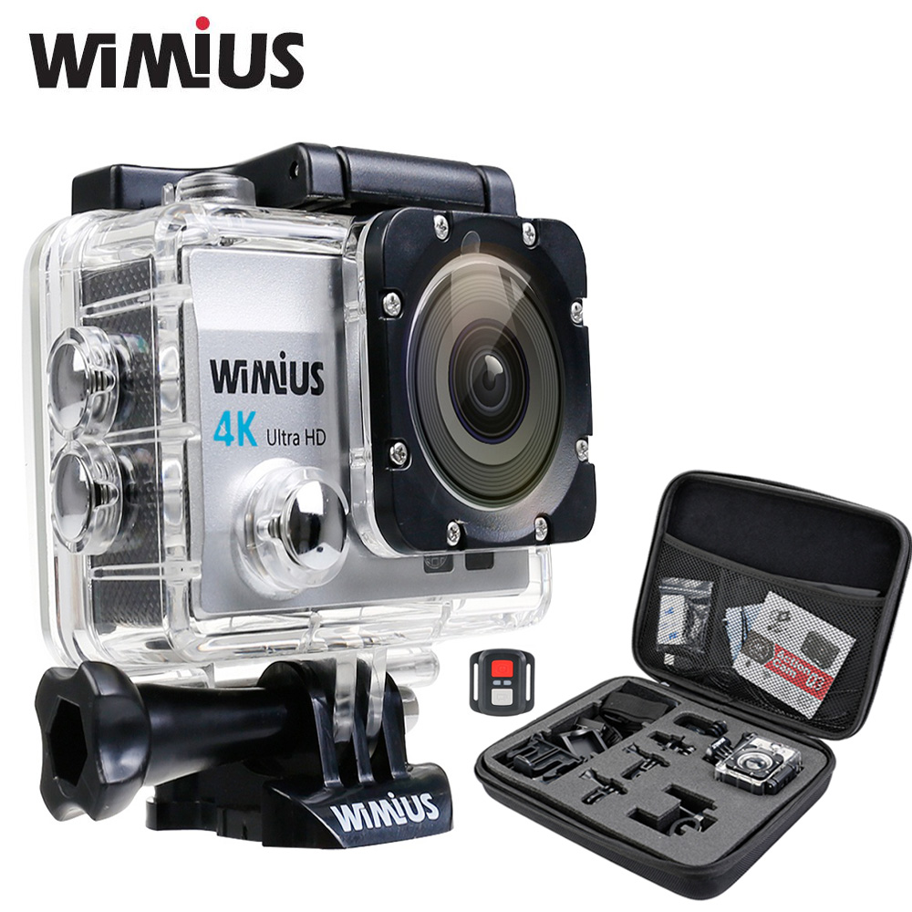 ФОТО Wimius 4K wifi Action Camera Ultra HD 1080P 60pfs Sports Mini Video zoom Cam Go Waterproof 40M pro +2.4G Wireless Remote Control