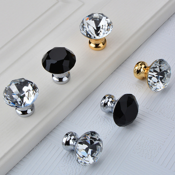 Top Luxury 10PCS European K9 Crystal Kitchen Door Handles Cupboard Wardrobe Drawer Wine Cabinet Pulls Handles and Knobs