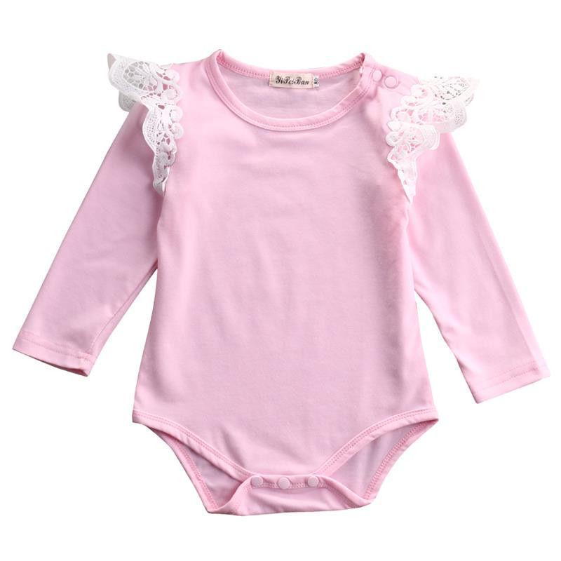 2016 Autumn Newborn font b Baby b font Girls Infant Princess Long sleeve font b Romper