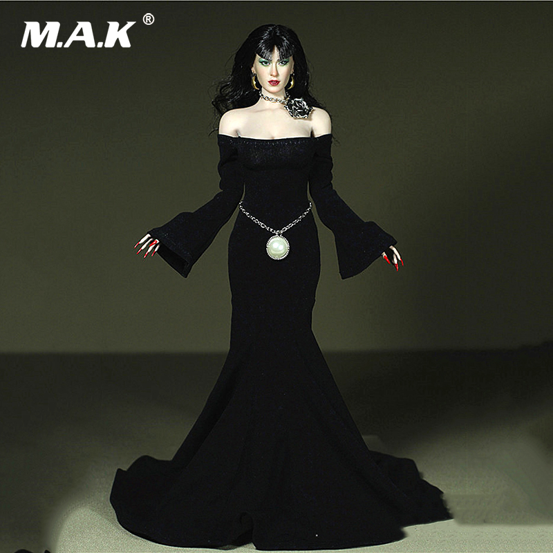 1/6 Sexy Female black Long Evening Dress Belt Clothing Model Necklace For 12 Big Bust Action Figure Accessories Clothes1/6 Sexy Female black Long Evening Dress Belt Clothing Model Necklace For 12 Big Bust Action Figure Accessories Clothes