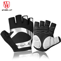 Wheel Up Half Finger Cycling Gloves Anti Slip Shockproof Soft Lycra Breathable Motorcycle Gloves MTB Road Bike Reflective Gloves