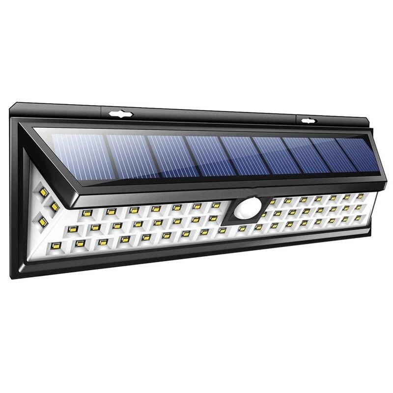 Lâmpada solar 54 led luz solar ao ar livre ip65 luzes do jardim à prova dwaterproof água pir sensor de movimento luz solaire exterieur segurança lampara