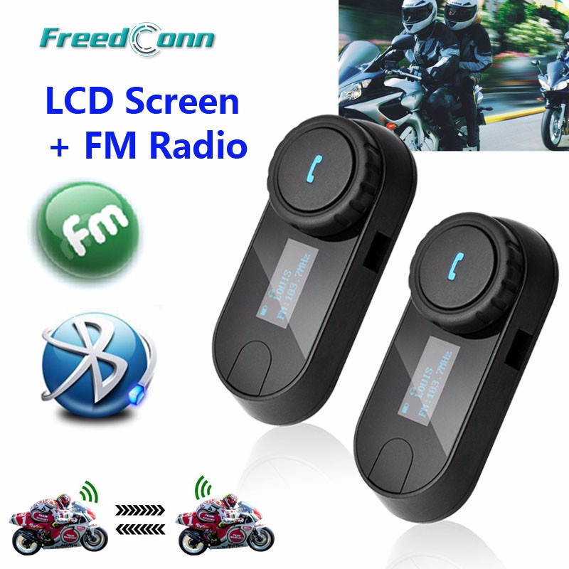 2016-New-Updated-Version-2PCS-FreedConn-T-COMSC-Bluetooth-Motorcycle-Helmet-Intercom-Interphone-Headset-LCD-Screen