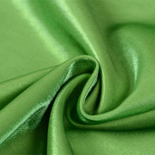 CF551 Solid Gloss Green Tencel Cotton Linen Fabric Coloured Glaze Thick Silk Satin Fashion Fabric For Women's Dress Skirt(China)