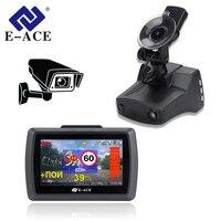 E ACE G07 3 IN 1 Car Camera Recorder Dvr HD 1296P Dashcam Radar Detector GPS Auto Registrator Video Recorder Dash Camera Car Dvr