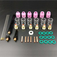 44Pcs/set TIG Welding Torch Nozzle Cup WL20 Tungsten Gas Lens #10 Kit For WP9/20/25