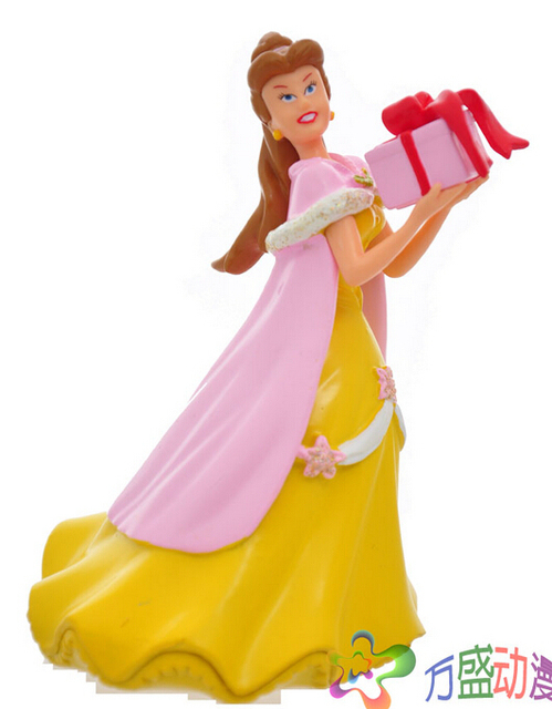 Beautiful 6pcs/set 13cm Princess Snow white Action Figures Anime PVC brinquedos Collection Figures toys AnnO00680H