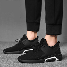 2019 New Fashion Casual Shoes Men Lace up Loafers Breathable Mesh Shoes Comfortable Man Walking Footwear Black Sock Sneakers Men 2018 mens trainers baskets homme new men shoes fashion sneakers walking man casual shoes mesh comfortable male footwear