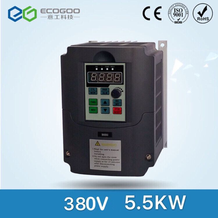 AC 220V/380V 5.5KW 7.5HP 3 phase input output frequency inverter drives VFD for motor Speed Control 50HZ/60HZ DC converter