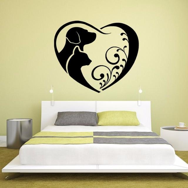 Aliexpresscom Buy Abstract Art Loving Puppy Cat Vinyl Wall - Vinyl wall decals abstract