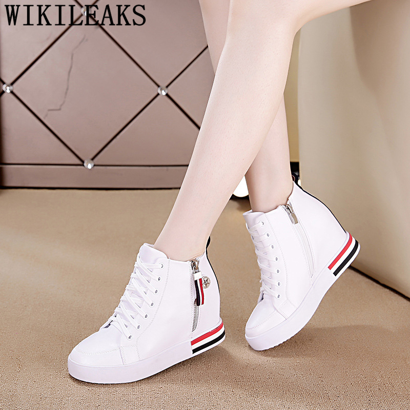 Wedges Sneakers For Women White Boots