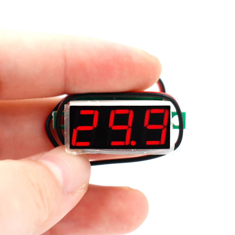 by DHL FEDEX 300PCS/lot Two Wires Digital Voltmeter tester LED Display Panel Voltage Meter DC2.4-30V
