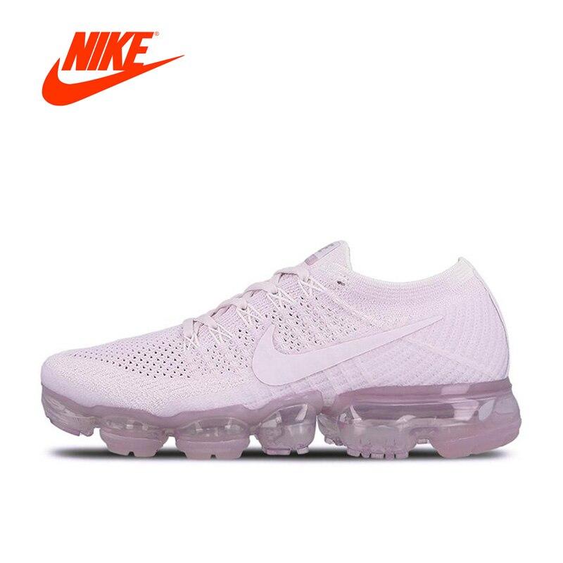 Nike Air VaporMax Flyknit Original nueva llegada auténticos zapatos corrientes de las mujeres zapatillas de deporte respirables clásicos al aire libre