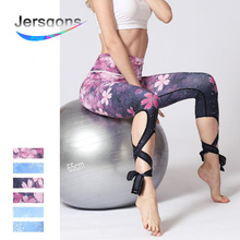 Jersqons Women Sport Leggings High Waist Compression Yoga Pants Gym Fitness Sexy Running Floral Cherry Blossoms Print Tights