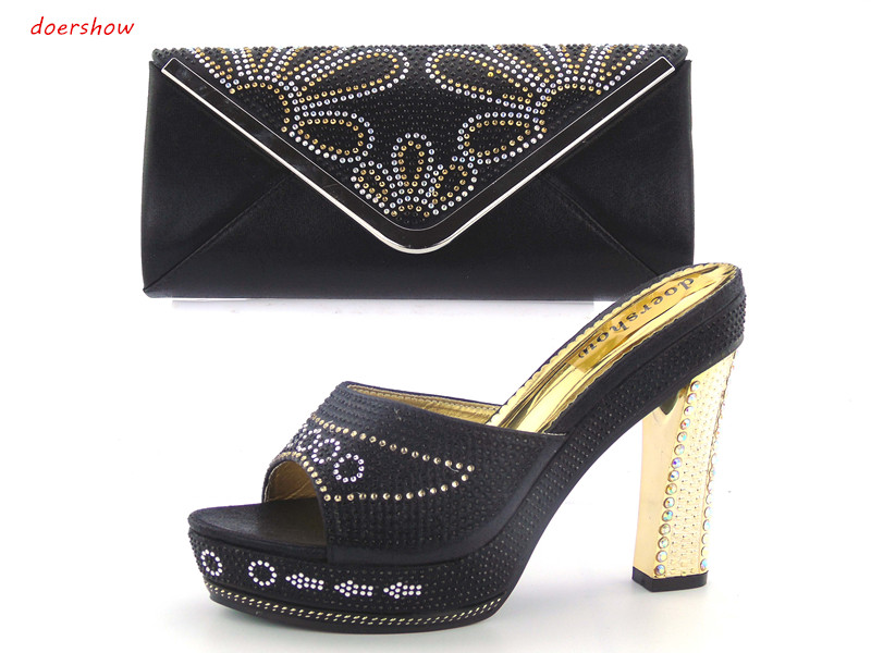 New Arrival doershow Italian Shoe with Matching Bags African Shoe and Bag Set for Party In Women Italian Shoe with Bag! JK1-50 doershow italian shoe and bag set african lady shoes matching wedding party dress for free shipping puw1 11