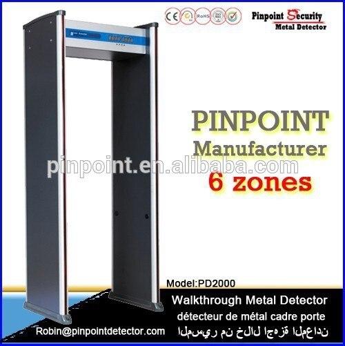 Paquet de sécurité + livraison gratuite!!! détecteur de métaux d'origine chinoise bon marché pour aéroport, Prison, Prison PD2000