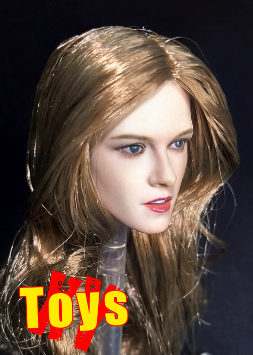 New 1/6th Black Long Hair Kristen Stewart Head Scuplt For 12inch Phicen Tbleague JIAOUL Doll Body Model Toy Action figureNew 1/6th Black Long Hair Kristen Stewart Head Scuplt For 12inch Phicen Tbleague JIAOUL Doll Body Model Toy Action figure