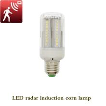 AC 85 265V E27 LED Light Corn Bulb Radar Motion Garage Corridor