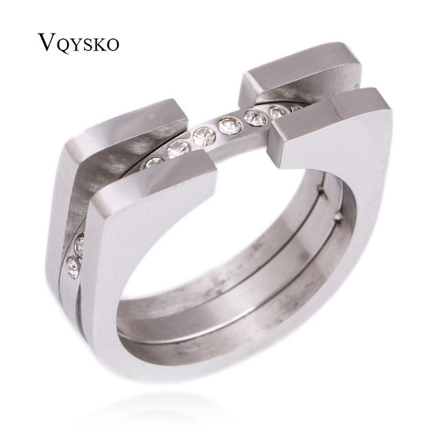Fashion Luxury Brand Jewelry New Arrival Wedding Ring For Women Rose Gold With A