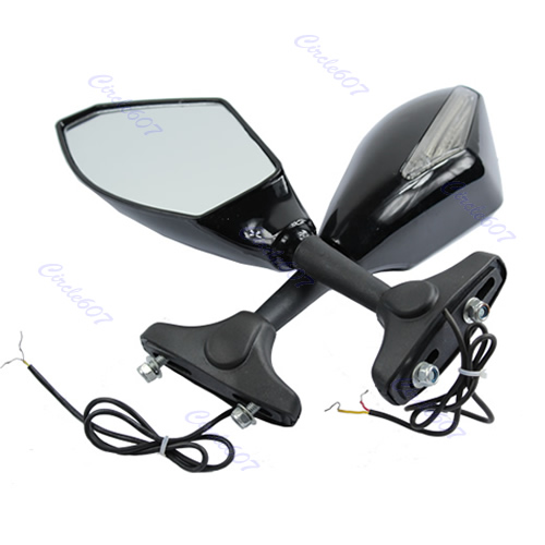 LED поворотов сзади Зеркала для CBR GSX R GSF R6 R1 1098 1198 600 1000 Доставка