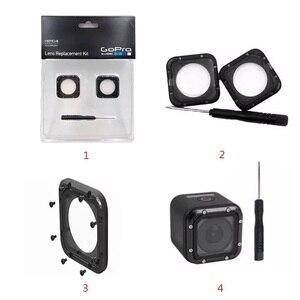 Image 4 - 移動プロ用オリジナルレンズprotetiveフレーム/uvガラスレンズカバー/キャップとツールのためのgoproヒーロー5セッション4セッションカメラアクセサリー