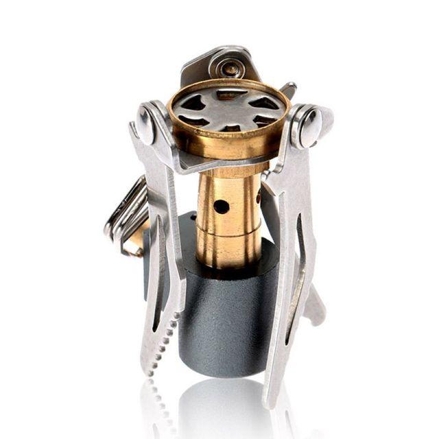 Outdoor stove titanium alloy folding mini camping stove 45g