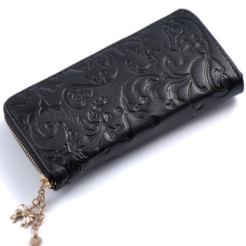 Floral Embossed Leather Women's Wallet Bags and Wallets Best Seller Hot Promotions Women's Wallets Color: B015d