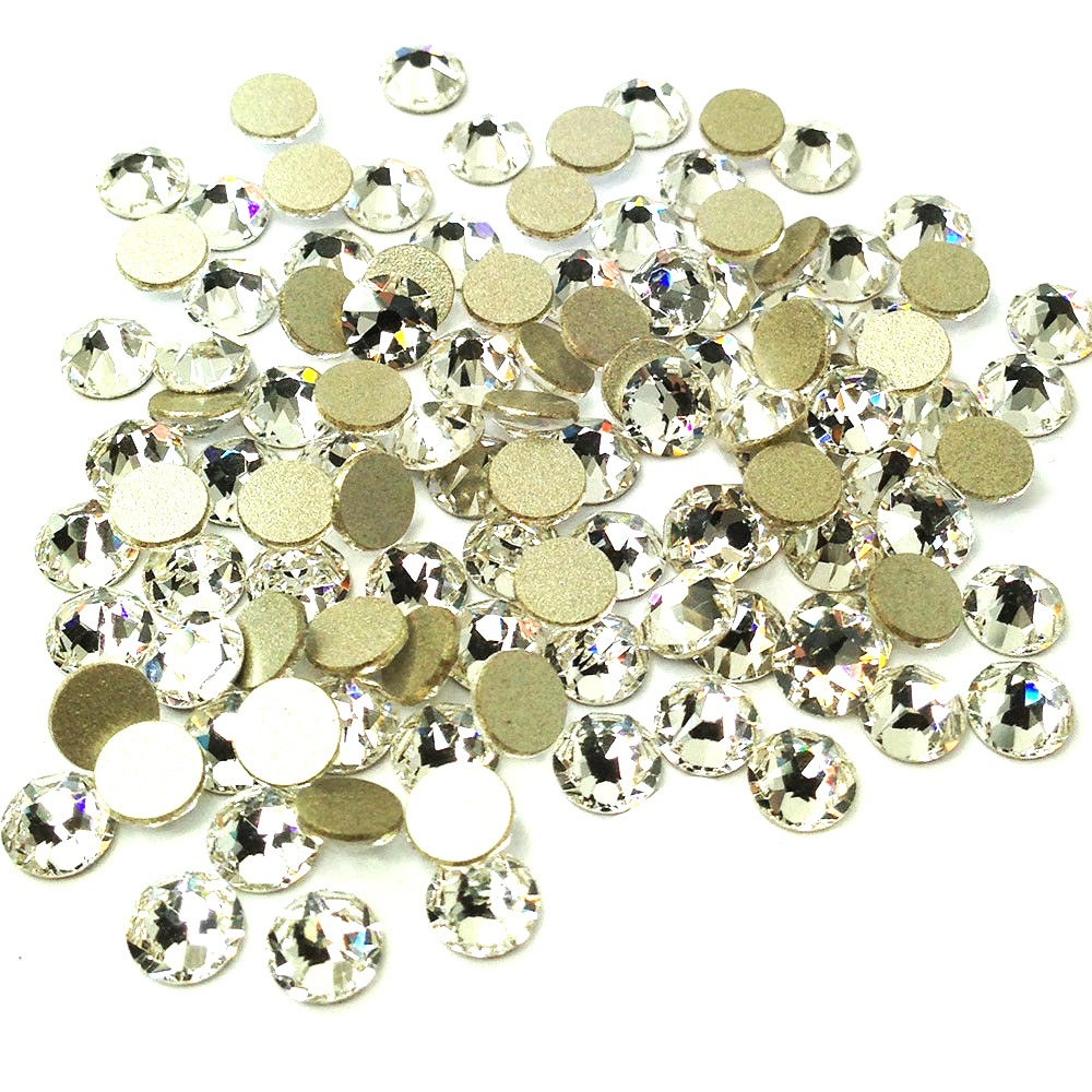 Aliexpress Com Buy 1440pcs Gold Bottom Crystal Clear: Aliexpress.com : Buy 2058NoHF SS20 Clear Crystal 1440pcs