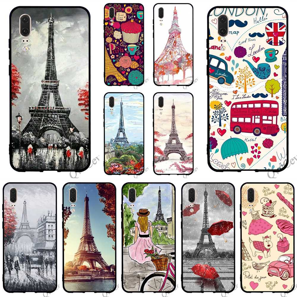 Paris France Eiffel Tower Classic Country City Glasses Case Eyeglasses Clam Shell Holder Storage Box