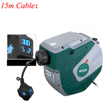 цены 220v Automatic Telescopic Electric Drum Plug Wire Reel Cable Retractor Air Drum Winder FUJE03-215