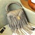 Bolsas de Couro Das Mulheres Da Forma do vintage Bolsa de Ombro Mulheres Sacos de Mensageiro Sacos Marca Designer Tassel Tote Sac um dos Principais Bolsas A0280