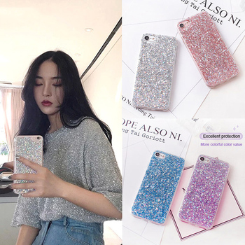 Bling Shining Powder Sequins Phone Case For iPhone 6 S 6S 7 8 Plus 6Plus 7Plus X XS Max XR 5 5S SE Soft Silicone Glitter Cover image
