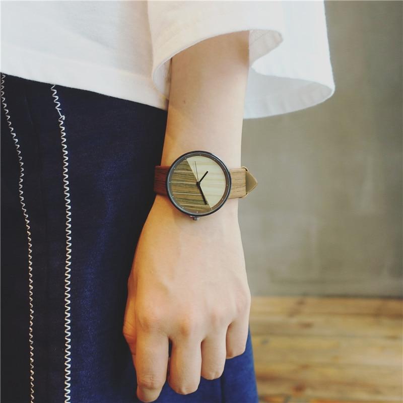 New Stitching Design Wood Grain Watches Simple Wooden Vintage Female Clock Brand Fashion Women Wrist Watch Relogio Feminino 4