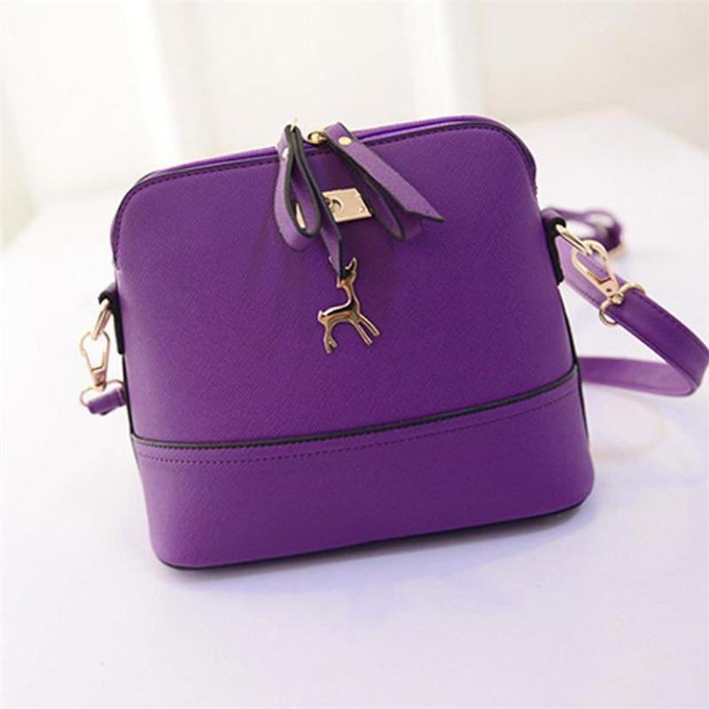 New Women Messenger Bag Vintage Small Shell Leather Handbag Casual Bag Messenger bag women's women Bags for women  2018 O0430#301