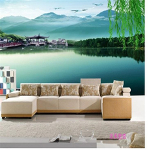 Large mural wallpaper TV background living room bedroom sofa flower rose painting seamless papel de parede free shipping цена 2017