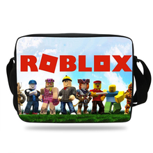 Newest Popular Game Roblox Messenger kids Bag Laptop Bag Crossbody School Satchels For Boys girl Casual Teenager Shoulder Bag