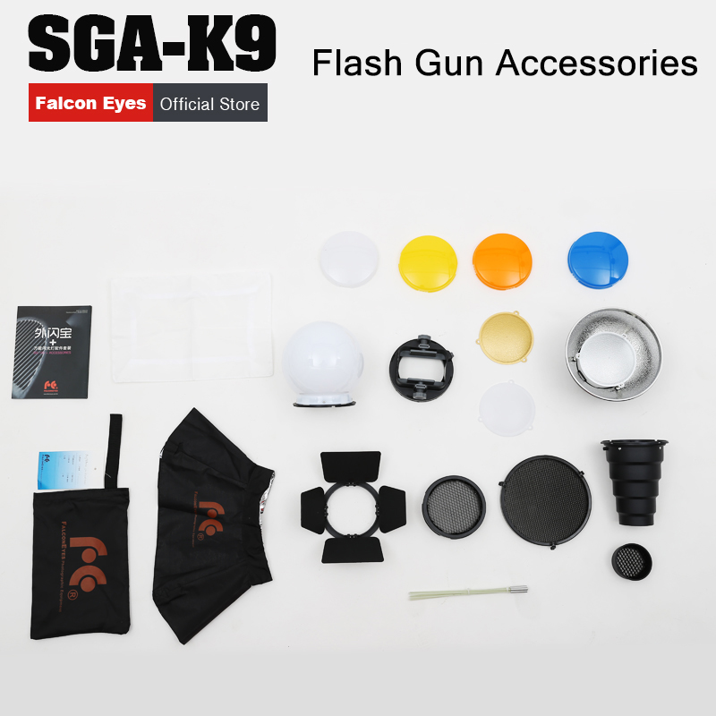 FALCON EYES Flash Adapter Kit Accessory for K9/K-9 Universal Mount CA-SGU Speedlite for SGA-K9 for SB910 900 430EX Yongnuo YN560