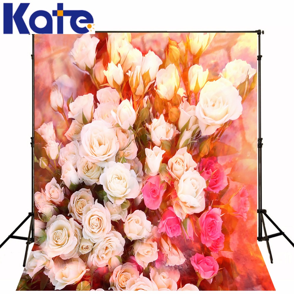 Kate Wedding Flower Wall Professional Photo Background Rose Backdrops For Photographers Children Washable Photo Background kate photo background scenery