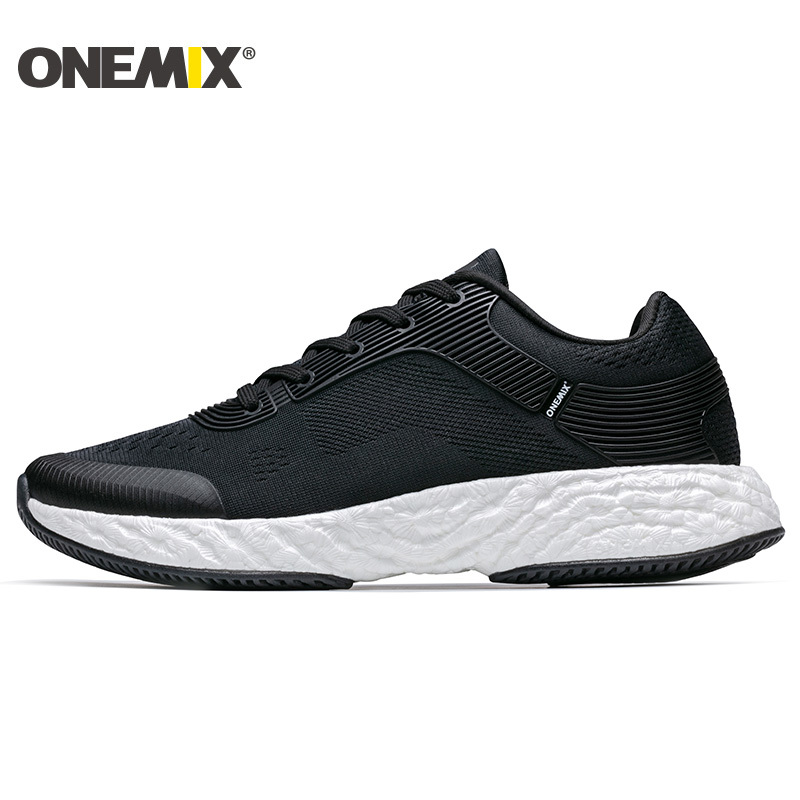ONEMIX Anti-skid Outsole Running Shoes Men Breathable Elastic Flexible Midsole Athletic Sneakers Soft Durable Outdoor Sport Shoe седло selle royal respiro soft athletic
