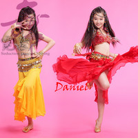 Costumes For Dance Belly 3piece Bra Dress Waist Chain Flamenco Dresses Red Rose Yellow Online Shopping
