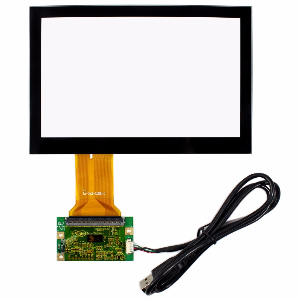 7 Capacitive Touch Panel USB Controller For AT070TN83 800X480 16:9 LCD Screen 5inch lcd screen with capacitive touch panel 800x480 40pin lcd display
