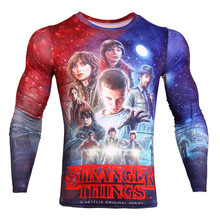 Compression Clothing Stranger Things 3D T Shirt Anime Mens Workout Clothes Popular Tee Shirts Hip Hop Tshirt Plus Size XXXL