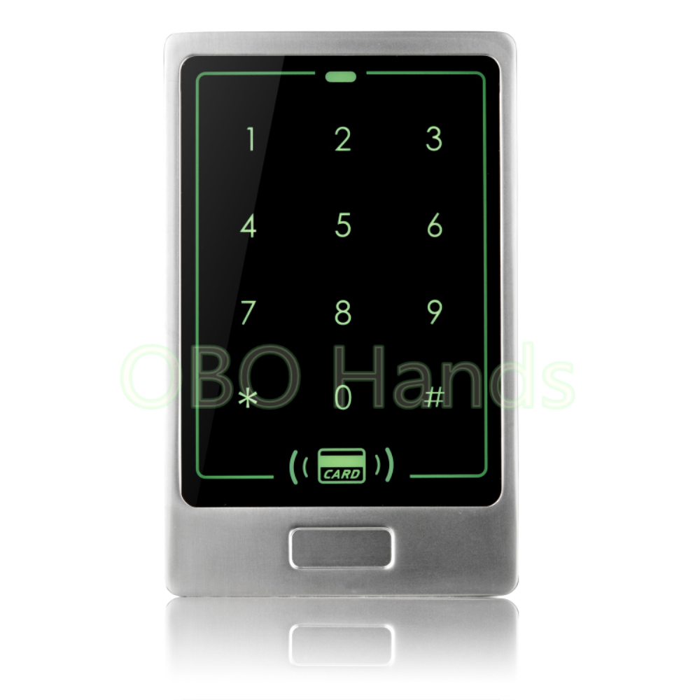 все цены на Free shipping Waterproof Metal Rfid Access Control Touch Keypad With 8000 Users+ 10 Key Fobs For RFID Door Access Control System