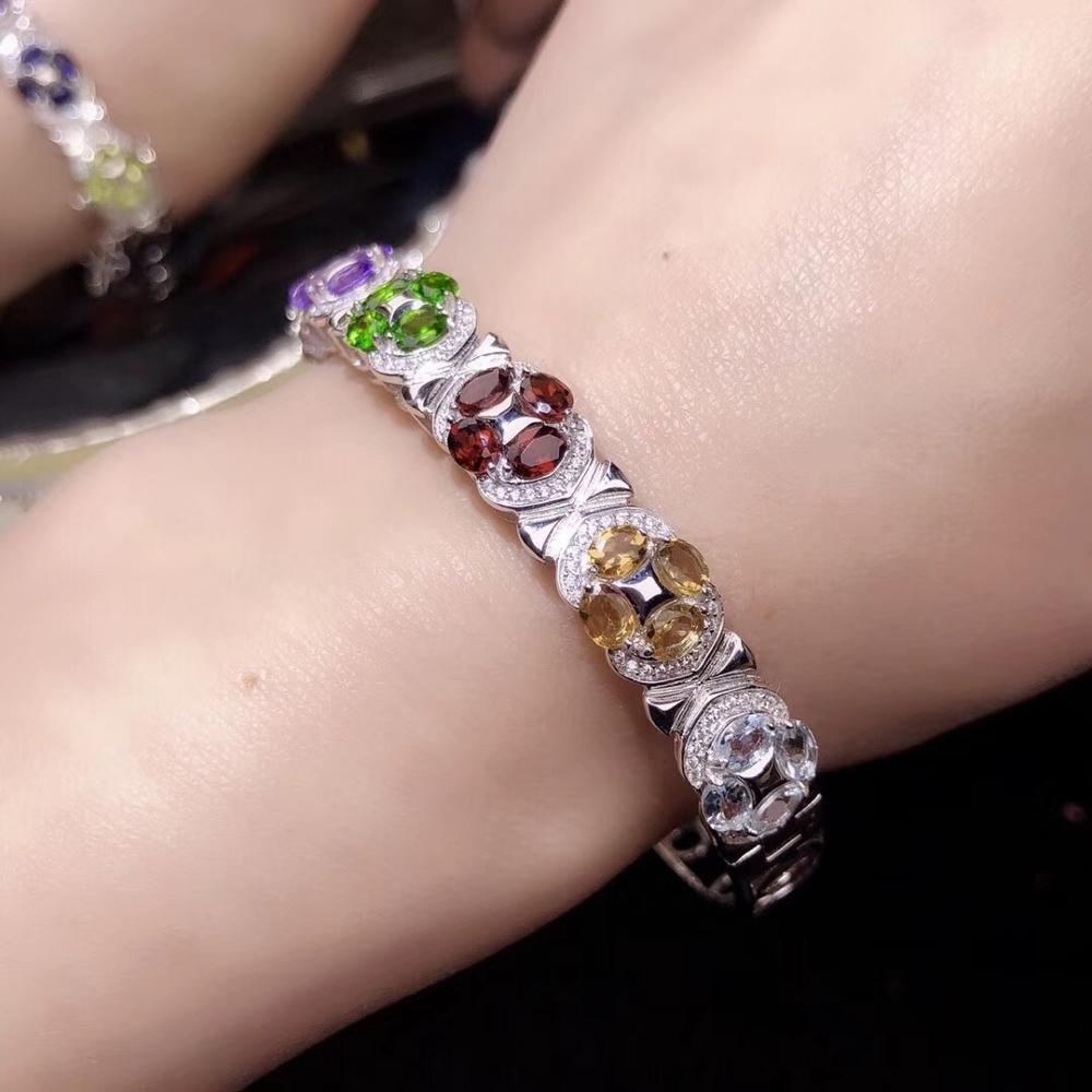 colourful gemstone bracelet  with silvercolourful gemstone bracelet  with silver
