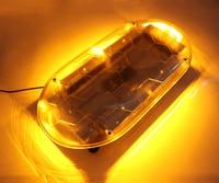 HEHEMM 54W LED Strobe Warning Light Emergency Flashing Lamp Waterproof Magnet LightBar Amber White Red Blue