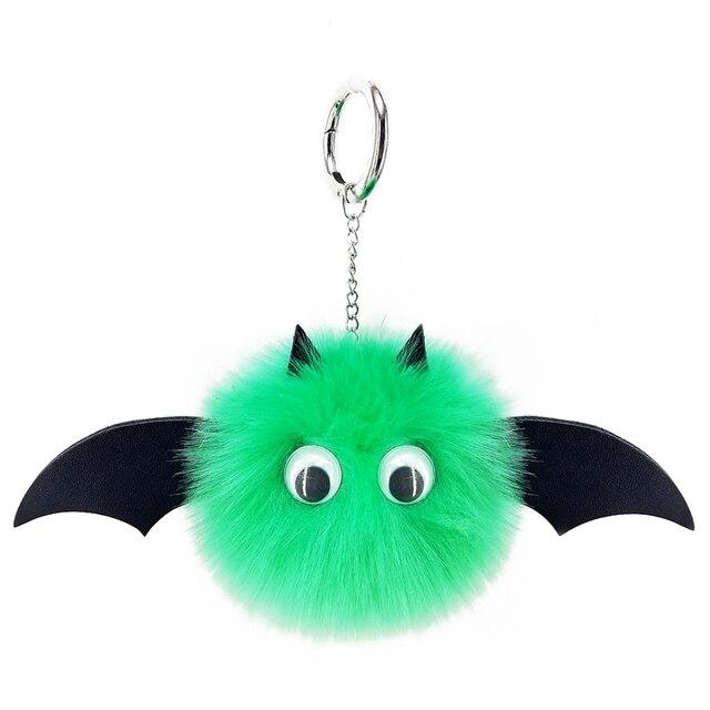 Morcego de Pelúcia Keychain Bag Pingente Pompom Splice Bonito Sacos das mulheres Artesanais Ornamento Do Presente da Jóia do Anel Chave Moda Lantejoulas Chave cadeia