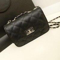 Orange Bag Real Mini 20cm Hasp 2015 Hot Sale Girls Women PU Handbag Woman Mini Chain
