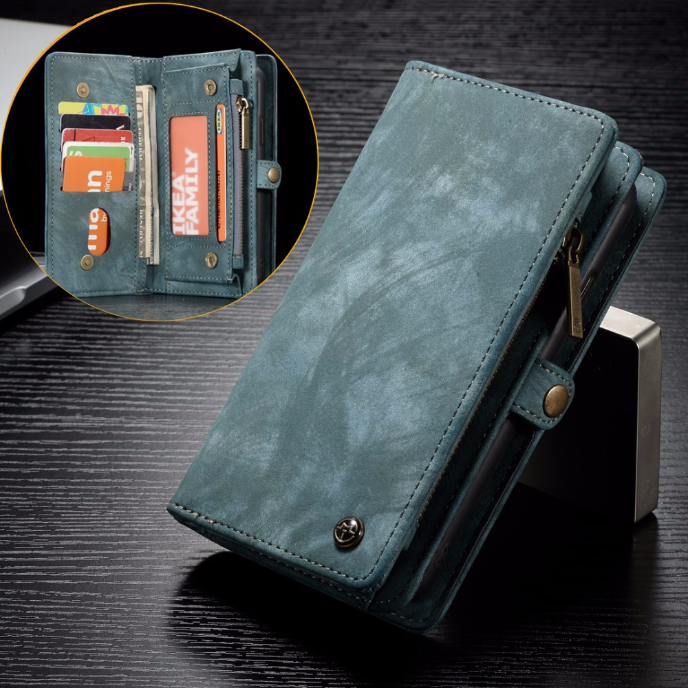 reputable site aeb5c 91c65 US $17.69  CASEME For Sony Xperia XZ2 / XZ2 Compact Case Vintage Split  Leather Multi slot Wallet Case for Sony Xperia XZ2 Compact-in Fitted Cases  from ...