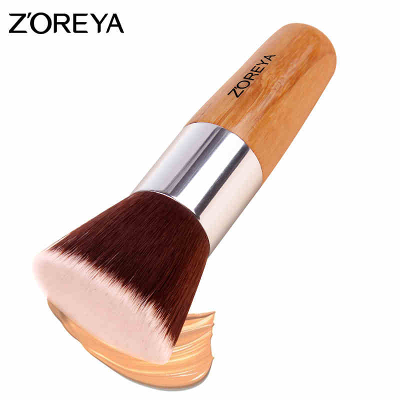 Zoreya Brand wooden handle Makeup brush wool fiber professional foundation Beauty Makeup Brushes exquisite Cosmet Tools Z66 zoreya 18pcs makeup brushes professional