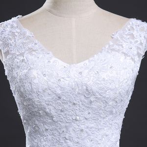Image 5 - Fansmile Backless Lace Long Train Ball Wedding Dresses 2020 Bridal Dress Wedding Gowns Vestidos de Novia Robe de Mariee FSM 099T